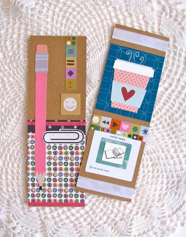 Bookmarks Pencil Coffee