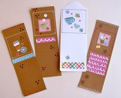 Bookmarks Coffee Hearts