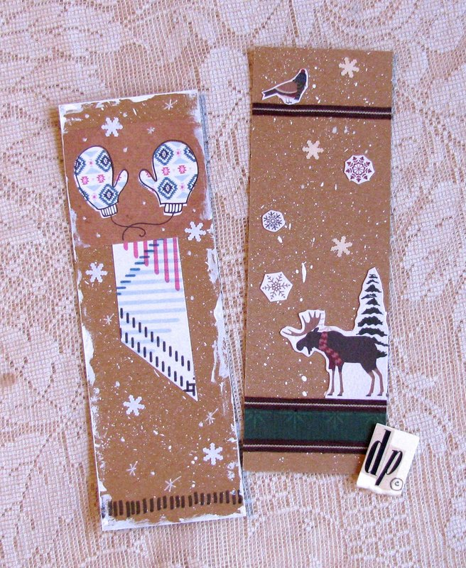 Bookmarks Mittens Moose