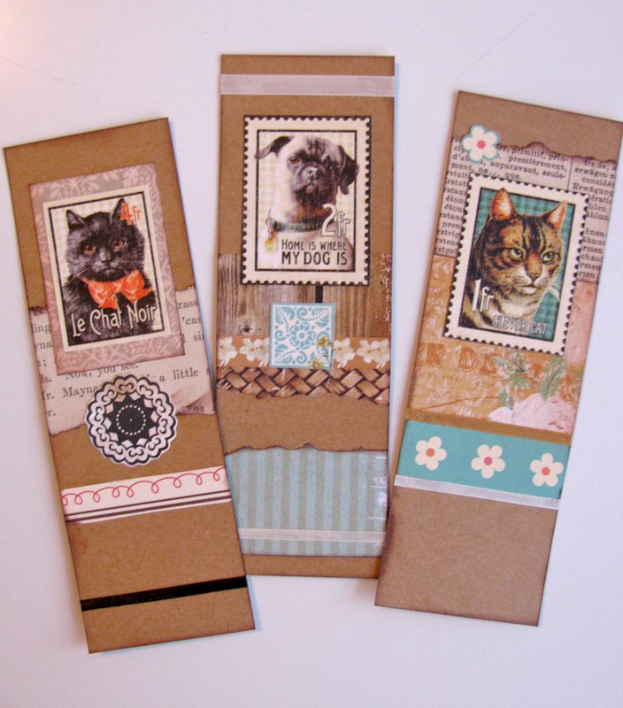 Bookmarks Cats and Dog