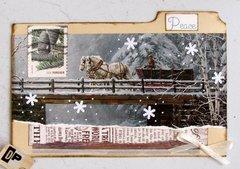 Collage Winter Bridge