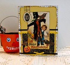 Halloween Card Scarecrow