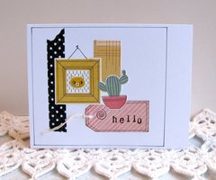 Note Card Cactus and Cat