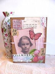 Vintage Girl Note Card