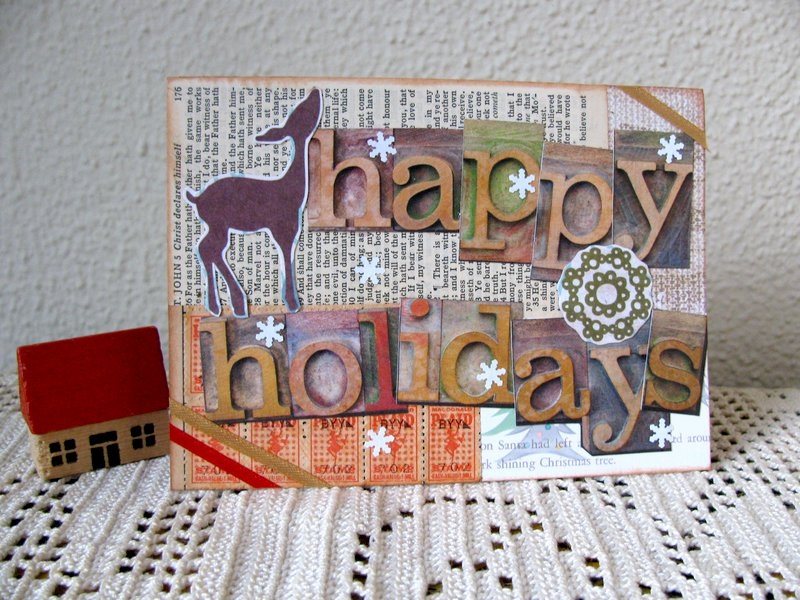 Print Block Christmas Card