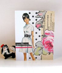 Note Card White Dress Pattern