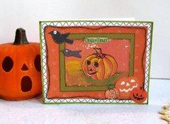 Halloween Card Pumpkin 1