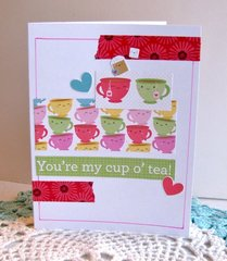 Note Card Cup O' Tea