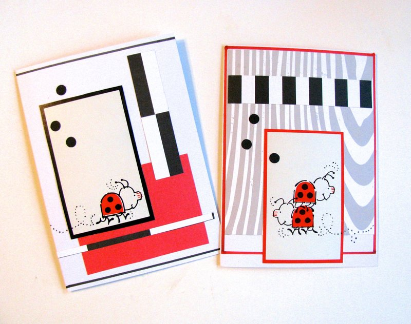 Note Cards Funky Bugs