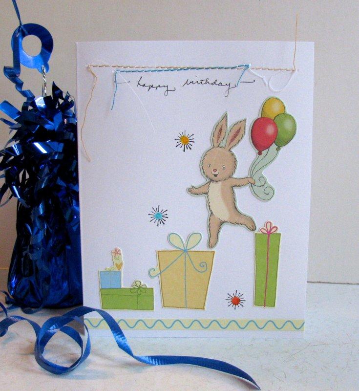 Birthday Card Simple Rabbit