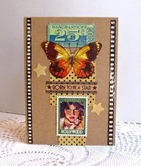 Note Card Hollywood Butterfly