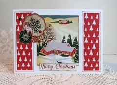 Christmas Card Snow Scene