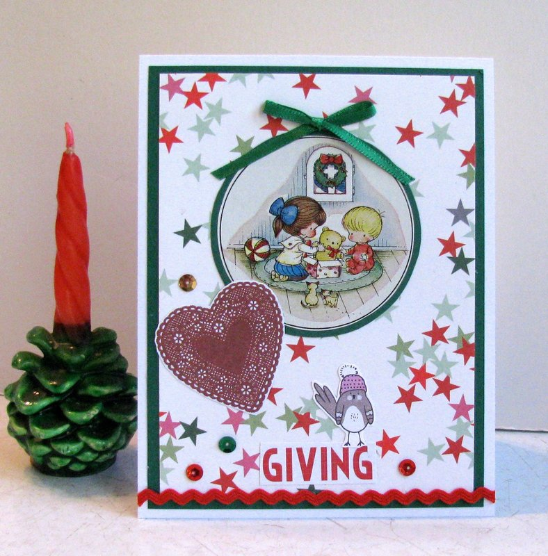 Christmas Card Kids Teddy