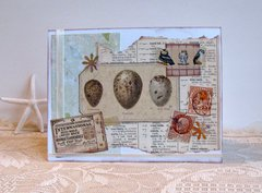 Note Card Eggs Collage
