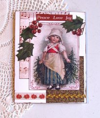 Christmas Card Old-Fashioned Girl