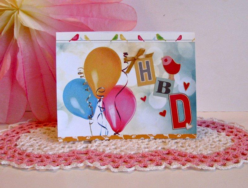 Birthday Card Balloons