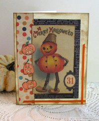 Halloween Card Pumpkin Man