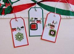 Christmas Tags Houses