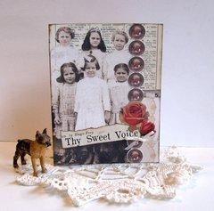 Note Card Vintage School Girls