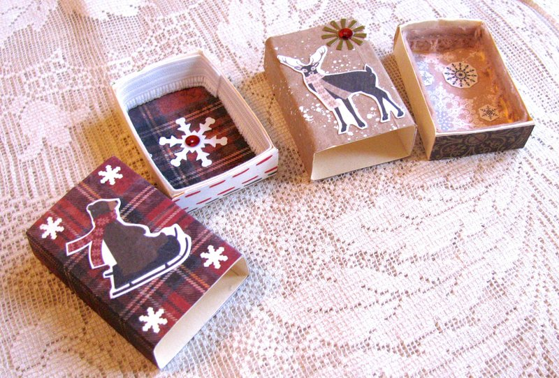 Matchboxes Christmas Animals Interiors