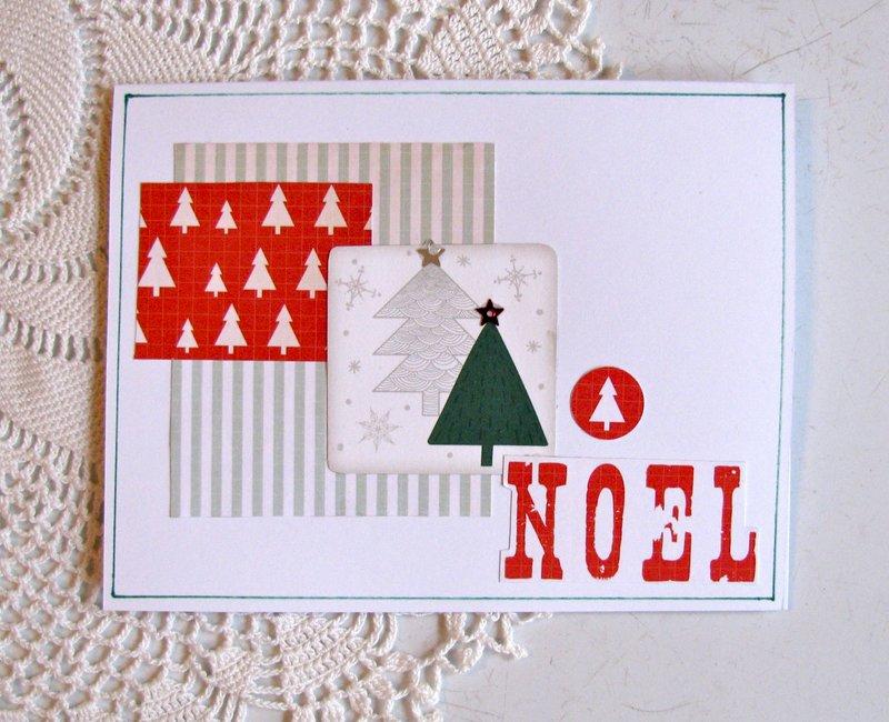 Christmas Card Noel Trees
