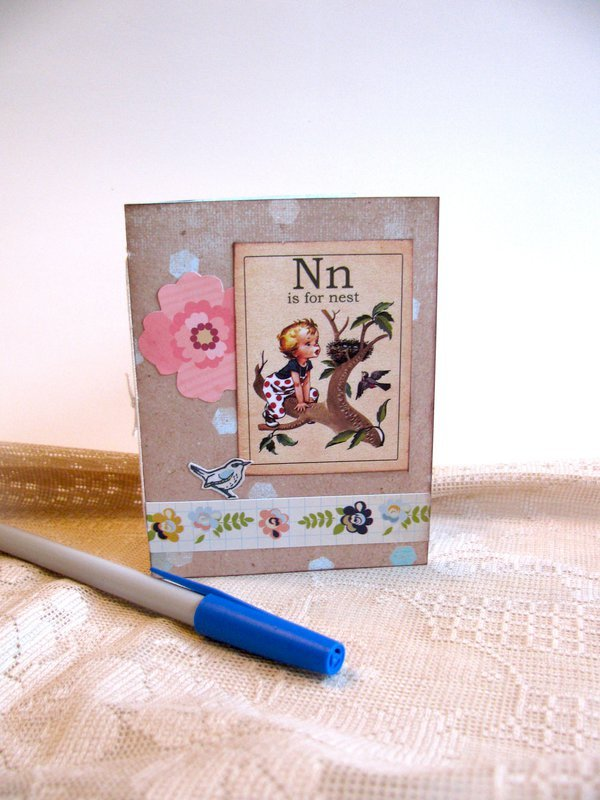 Small Notebook Nest Flash Card