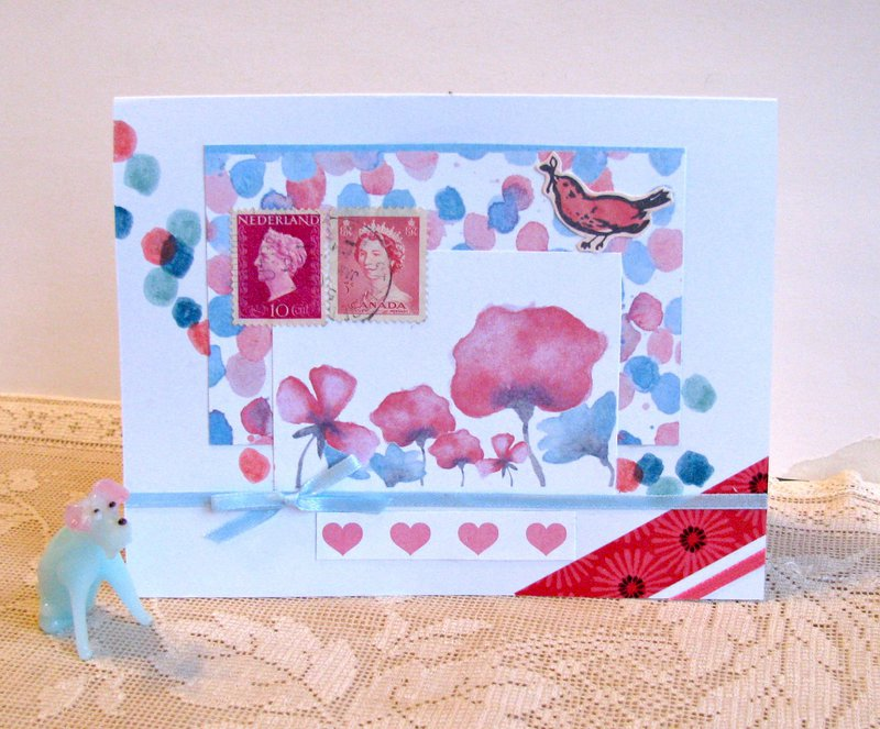 Note Card Pink Flowers