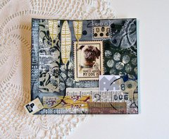 Pug Mixed Media Collage