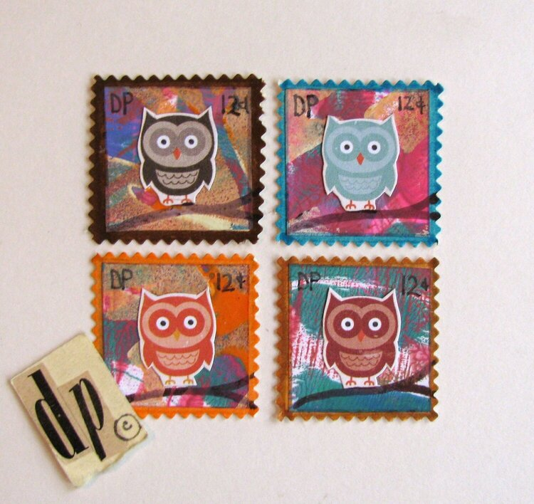 Faux Postage Owls