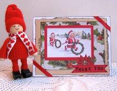 Christmas Thank You Card Vintage