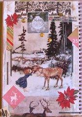 Smash Book Winter Deer