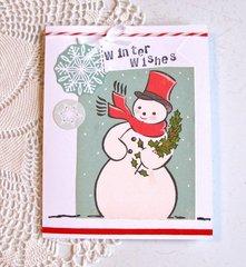 Christmas Card OA Snowman