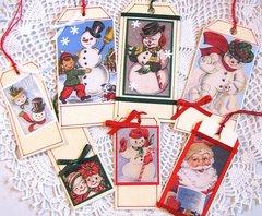 Christmas Tags Snowman