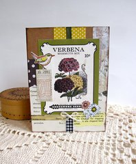 Note Card Verbena Seed Packet