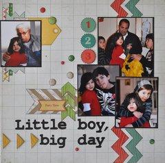 Little boy, big day