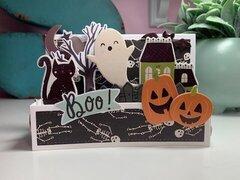 Spooky Nights Mini Slimline Box Card