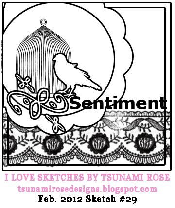 Card Sketch by Tsunami Rose