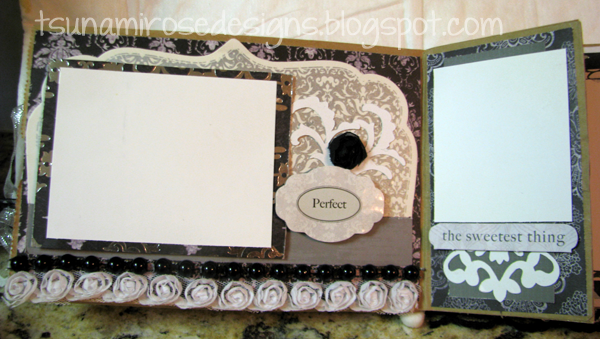 B & W monochromatic wedding mini paper bag album.