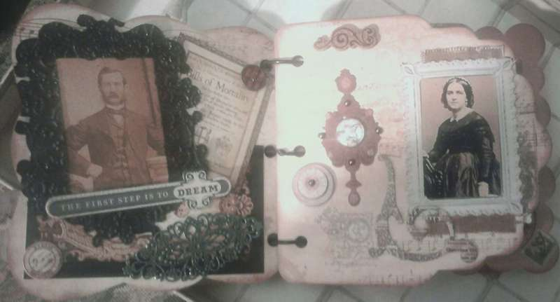 Mini album pages 1 and 2