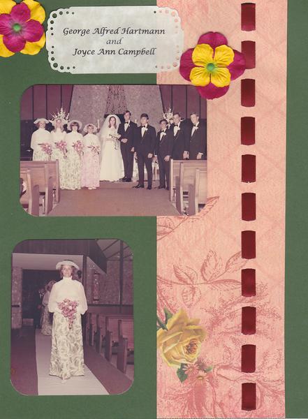 George & Joyce Wedding