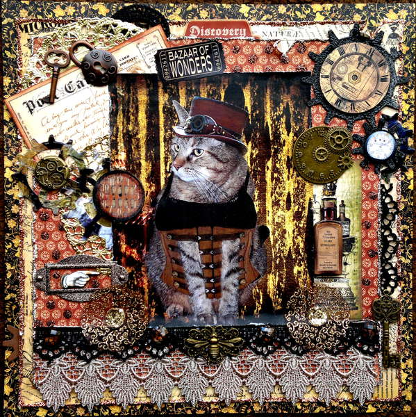 STEAMPUNK KITTAH - ESCAPE KITTY BACK IN TIME - SCRAPS OF DARKNESS