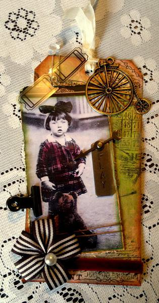 My Teddy - Tim Holtz Tag, 2012.