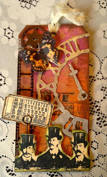 What day is it - Tim Holtz Inspired Tag