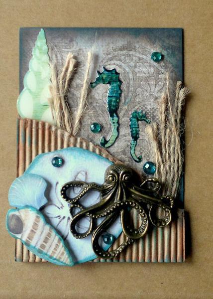 Octopus's Garden ATC - Creative Imaginations