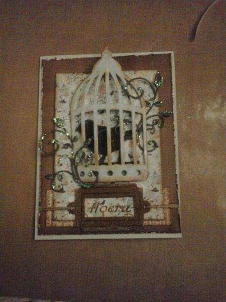 birdcage card for my brother