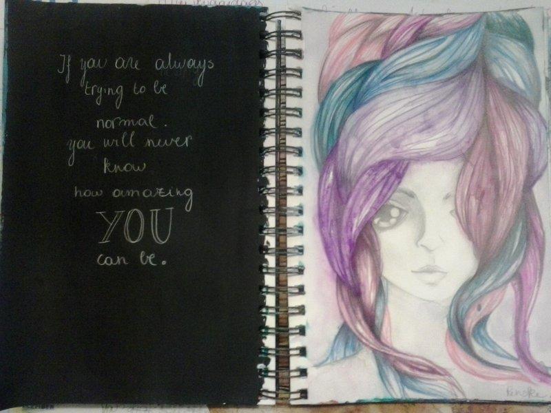 "art journaling page:"" be amazing"""