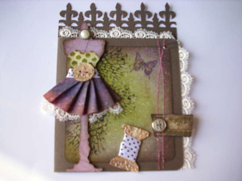 little dress card