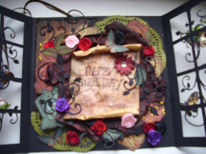 gothic butterfly garden card