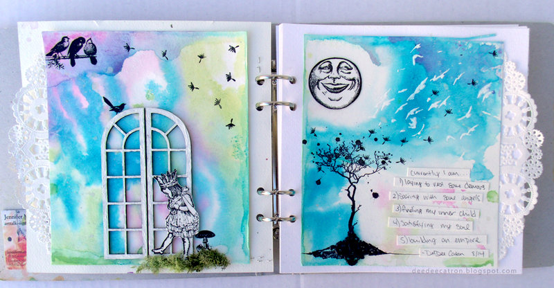 Currently Art Journal Spread