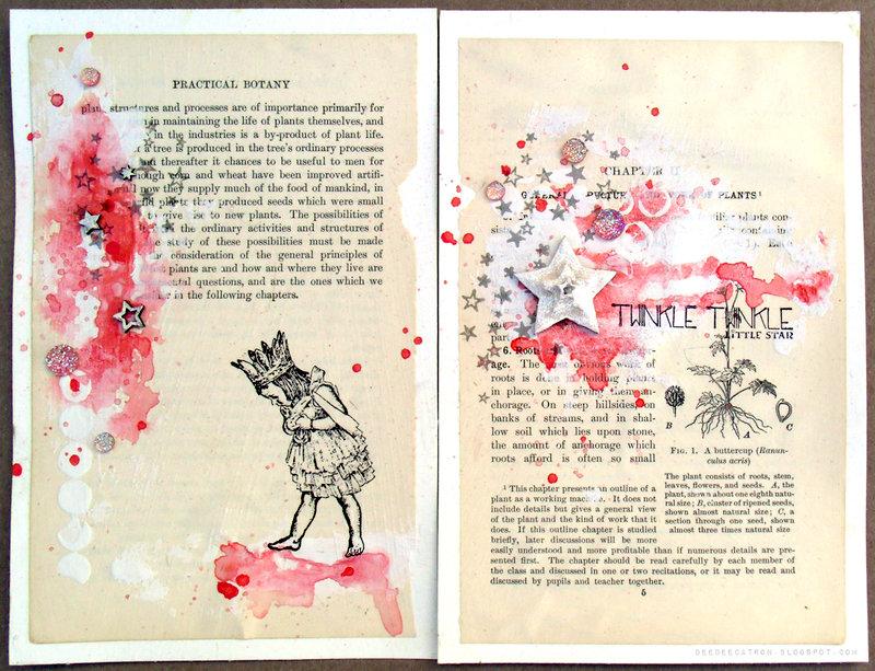 Twinkle Twinkle Art Journal Spread